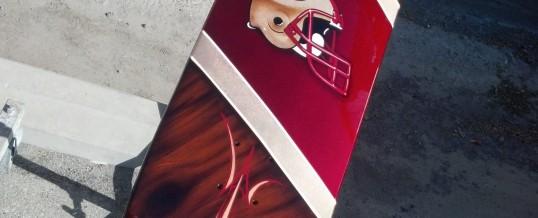 49er skateboard, nice!
